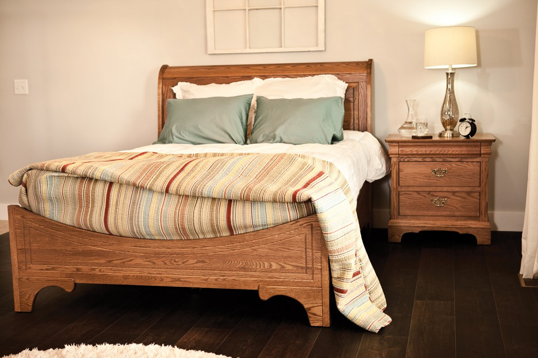 Edinburgh Sleigh Bed + Nightstand