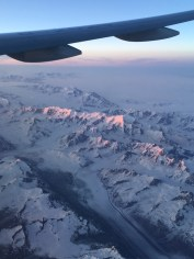 Crossing an area of southern Alaska (Shanghai to New York)
