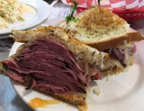 Reuben (pastrami), king of sandwiches. Unfortunately, the deli culture in the NE is on the decline, and there are few classic Jewish delis around these days.