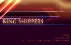 King Shippers business card