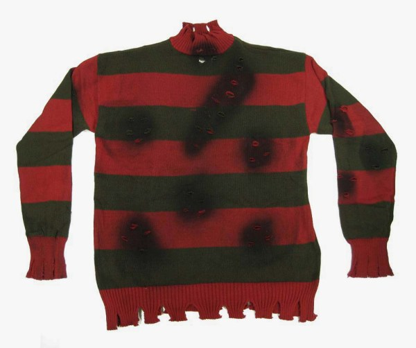 Freddy Krueger Deluxe Striped Sweater Costume Teen Young