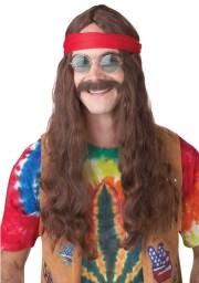 60's peace and love long hair hippie