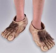hairy hobbit feet child costume