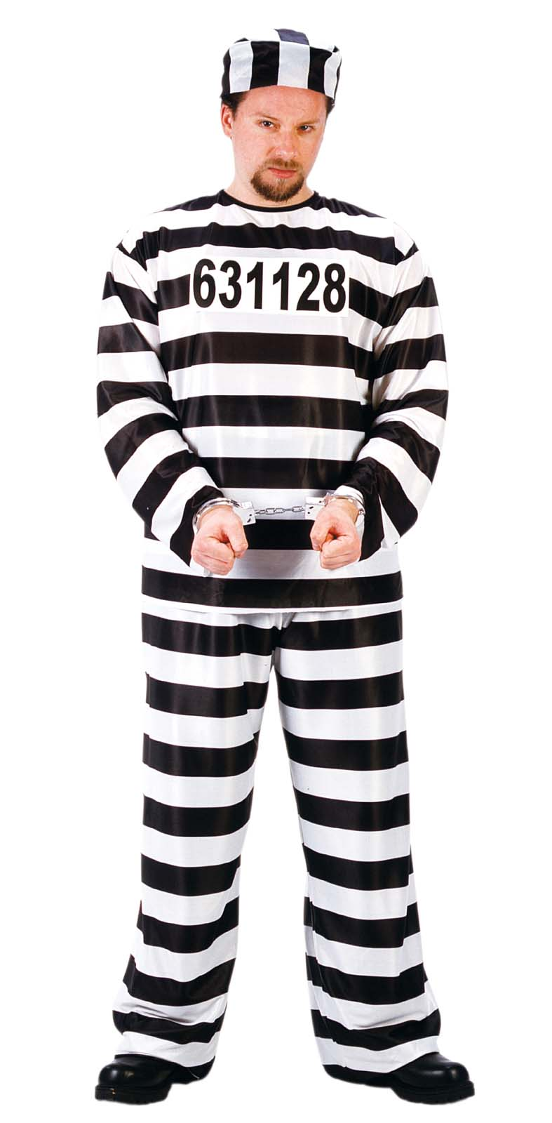 Jailbird Jail Costume Prison Jumpsuit Stripe Convict