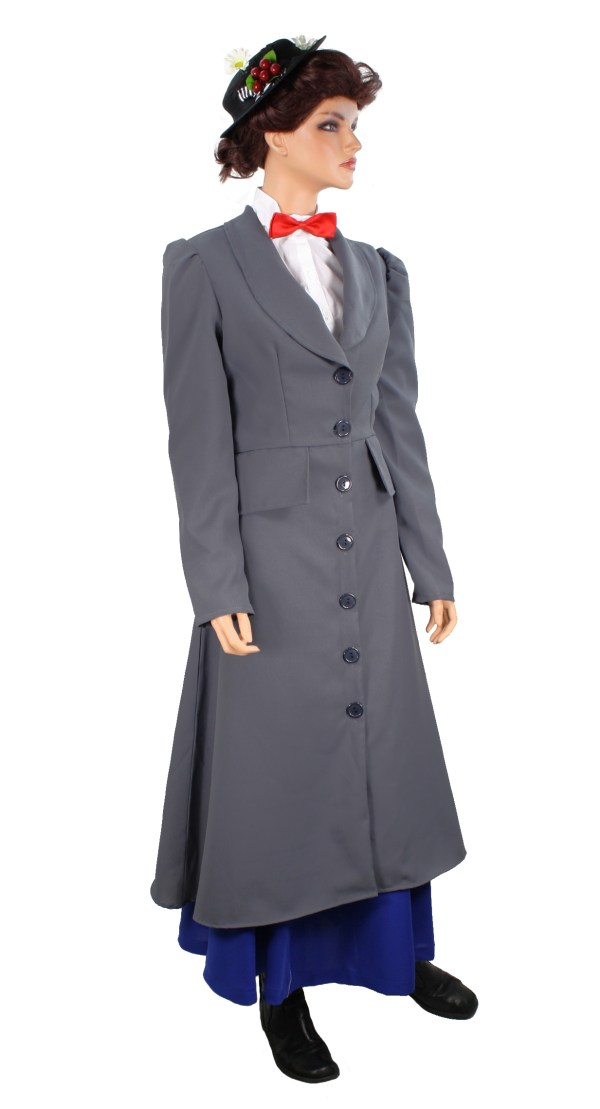 Mary Poppins English Nanny Victorian Gray Coat Jacket