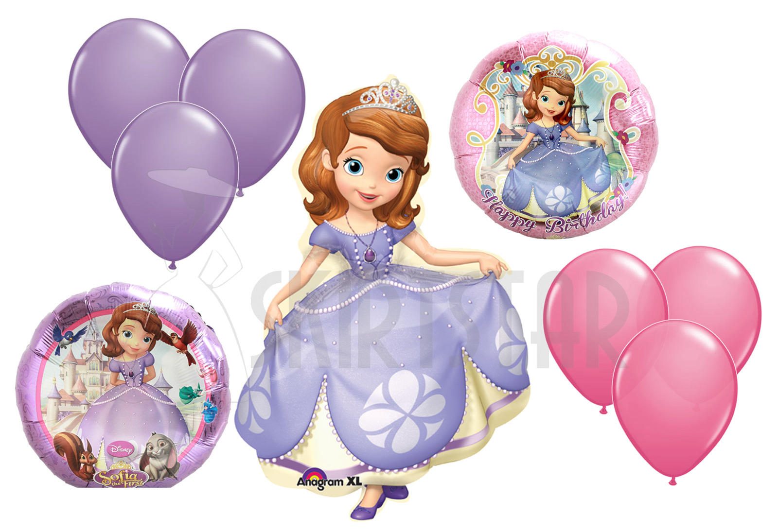 Disney S Sofia The First Balloon Set Lot Princess Birthday