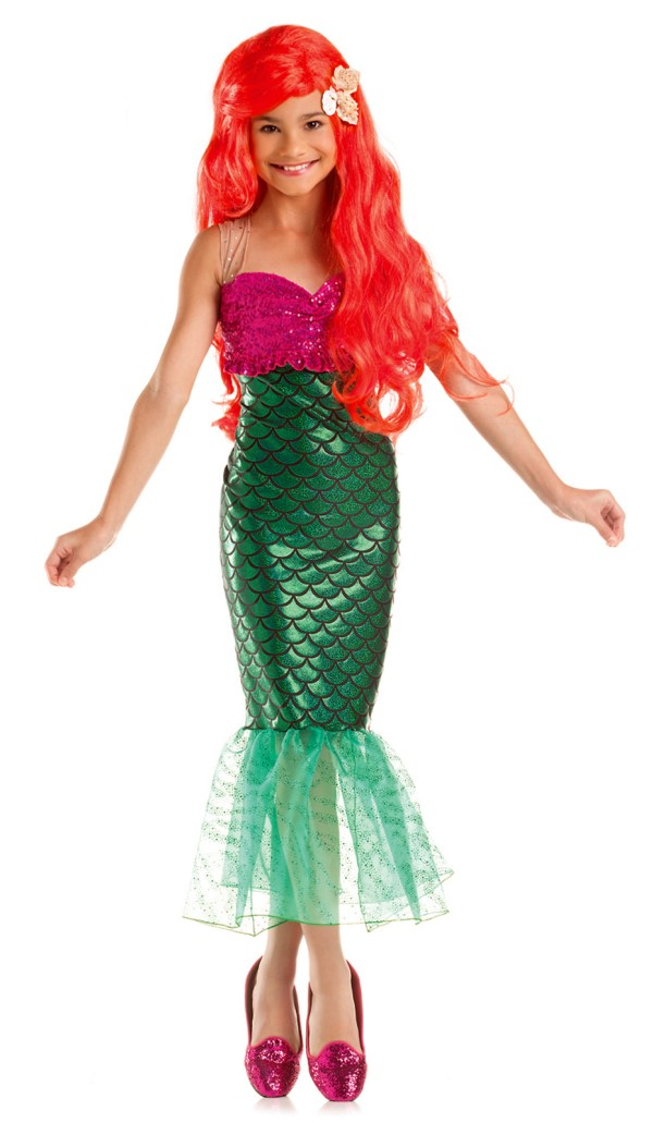 Sweet Little Mermaid Green Tail Fin Child Girl' Costume