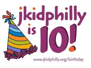 """jkidphilly is 10!"" next to a purple birthday hat"