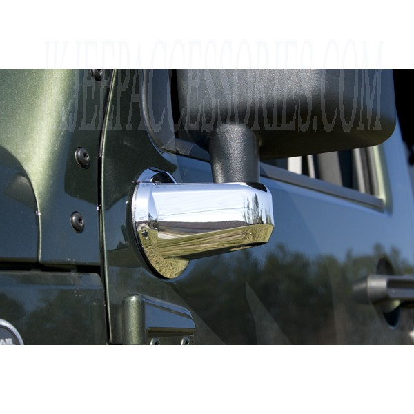 Jeep Wrangler Mirror Arm Covers Chrome 20072013 By Rugged Ridge