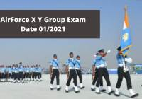 AirForce X Y Group Exam Date 01/2021