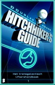 Het transgalactisch liftershandboek Boek omslag