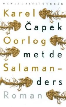 Oorlog met de salamanders Boek omslag