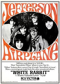 White rabbit van Jefferson Airplane