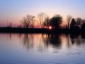 River sunset by Jamie Klinger-Krebs