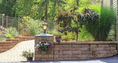 Walkway, Retaining Wall, & Landscape Beds