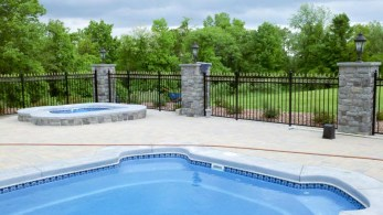 Retaining Wall Pool Ideas iddylic swimming pool closed concrete brick floor right for retaining wall ideas with nice staircase plus simple chair and round watch side lighting Retaining Wall Ideas Pools 1