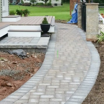 Classic CVT Paver Walkway leading to steps