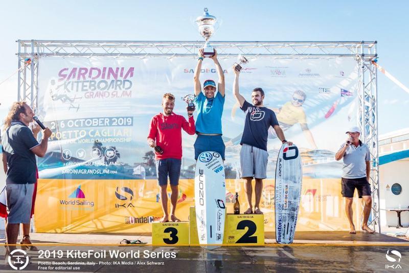 Podium des championnats du monde que kite surf 2019