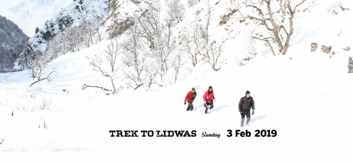 Snow Trek to Lidwas on 3rd feb 2019