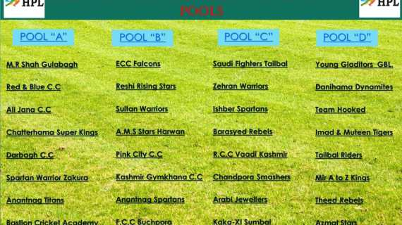 HPL 2019: 32 teams to take part in the mega Harwan Premier League 2019