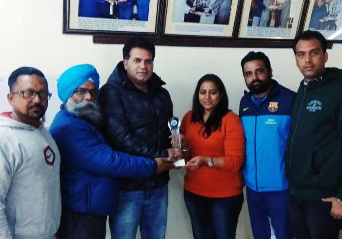 International football coach of J&K Sajid Yousf honoured