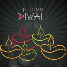 1055-Diwali-typography-oil-diya-Vector-background