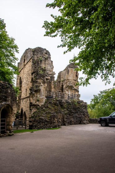 The castle ruins in Knaresborough