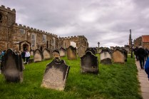 The graveyard at The Whitby Abbey