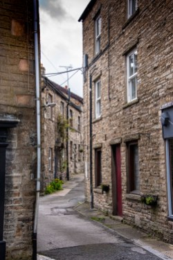 In the village of Hawes