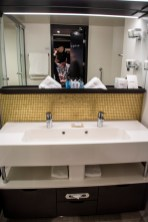 Impressive double sink