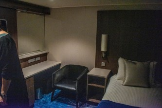 The living room of a family Concierge inside stateroom