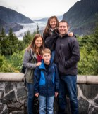 The kids at the Mendenhall Glacier