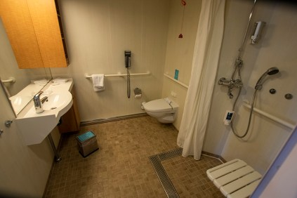The bathroom of that stateroom