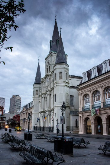 St. Louis Cathedral at dawn.
