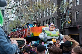 Here comes Buzz Lightyear and another very cool float.