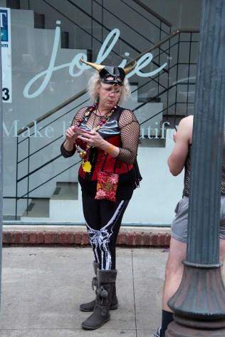 Even grandmas dress up for Mardi Gras.