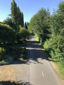 This biking and walking path. I have walked this in the past but it is way too crowded during Covid lockdown so I avoid it like the plague.