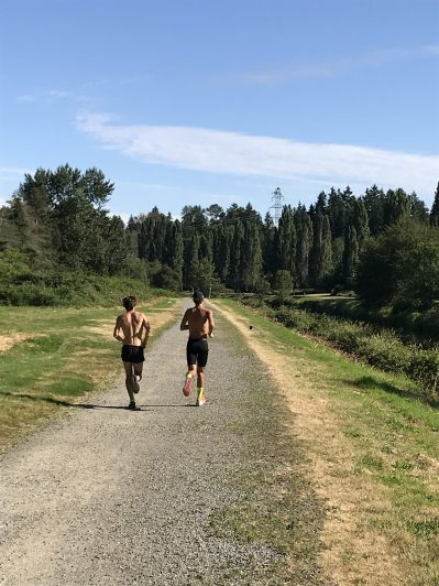 These two guys ran right by me. They were the only people I saw on my side of the river.