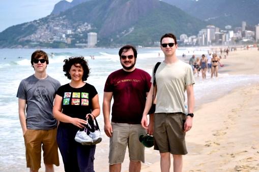 Automattic's Guided Transfer team on a beach