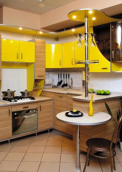 кухни угловые с барной стойкой дизайн фото 5