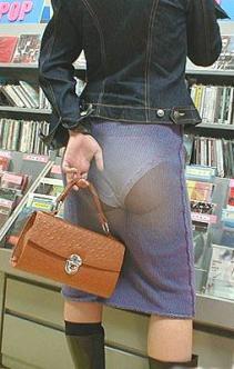Printed fabric of panties on skirts