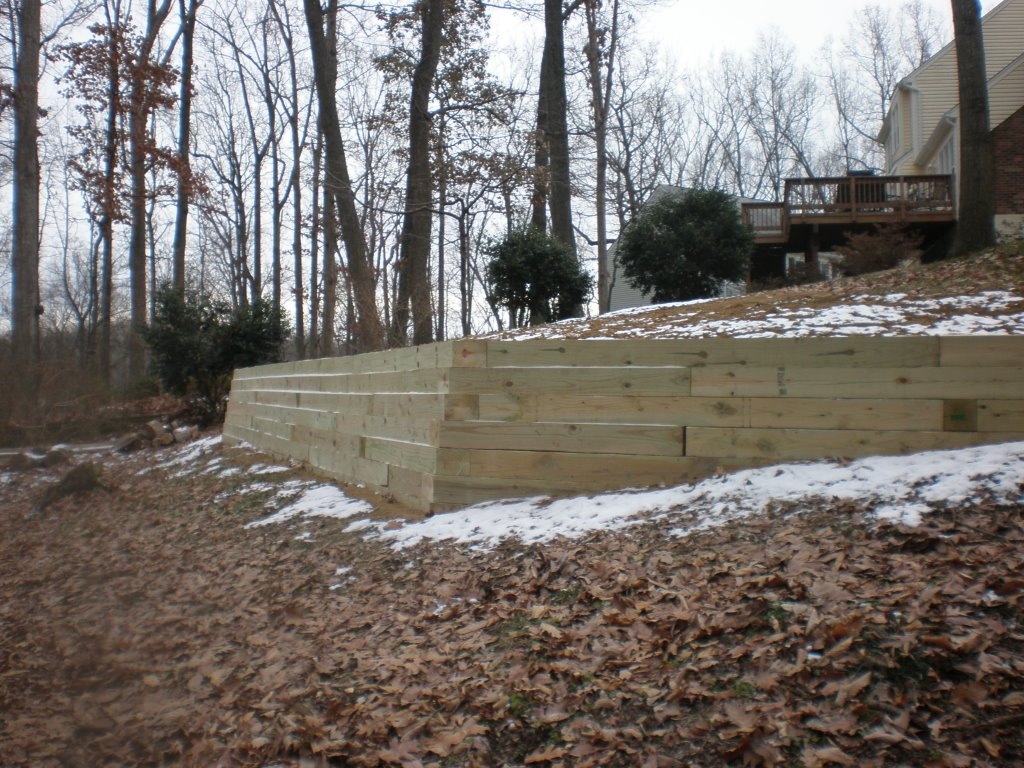 Wooden Retaining Wall Jl Affordable Outdoor Living Company