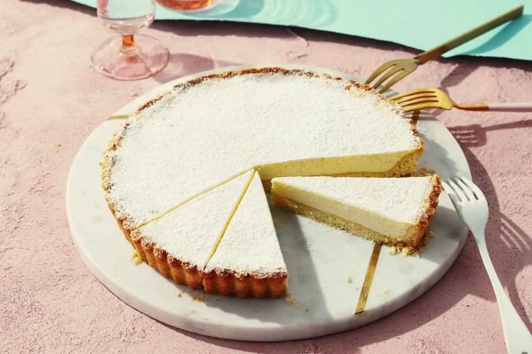 A decadent Sicilian dessert - Torta di ricotta ( italian cheesecake )