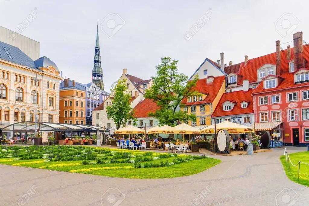 Livu Square Riga Latvia