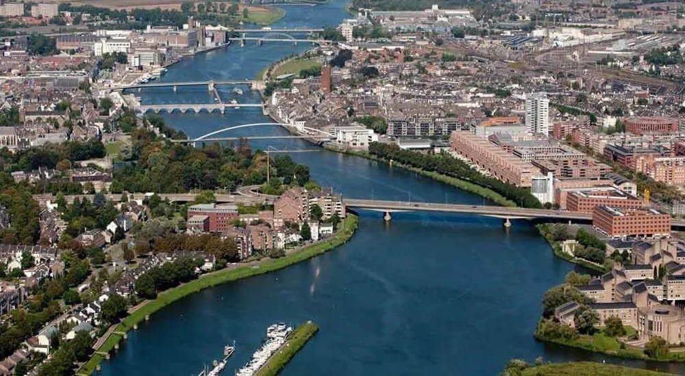 Maastricht on the Meuse river
