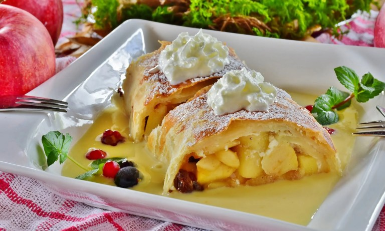 Piping Hot Apple Strudel from Austria