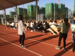 Tug-of-war competition between two of my classes.