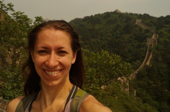 Proof that I actually made it! I hiked up to the peak behind me and back.