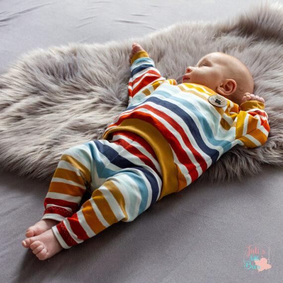Oversized Sweater und Leggings Streifen-Look