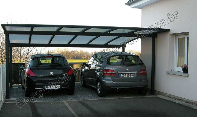 carport aluminium 2 voitures. Black Bedroom Furniture Sets. Home Design Ideas